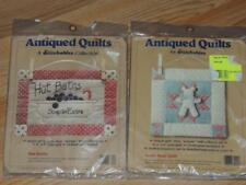 Lot of 2 DIMENSIONS ANTIQUED QUILTS KITS TEDDY BEAR & HOT BATHS STITCHABLES