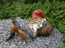 Miniature Dollhouse FAIRY GARDEN ~ Napping Gnome on Barrel  ~ NEW