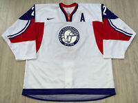 "IIHF Norway Game Worn Ice Hockey Jersey Shirt Nike #2 Mattias Nørstebø ""A"" Patch"