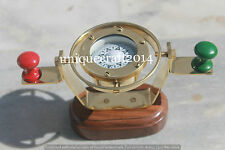 """ANTIQUE SOLID BRASS HANGING COMPASS 2.5"""" MARITIME REPLICA COLLECTABLE GIFT ITEM."""
