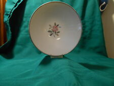 "Noritake ""Rosales"" #5790, Lunch Plate, Pink Rose, Platinum Leaves"