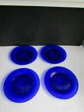 "VTG HEISEY Spanish Blue Stiegal Blue 8"" Plates Set of 4 HTF LOT 1"