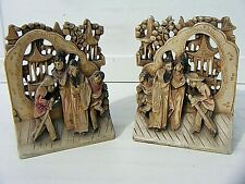 More details for antique chinese wooden carved bookends