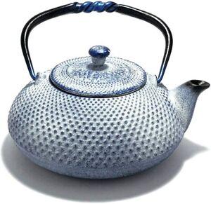 Nambu Ironware Tetsubin [Arare Pearl Lapis White] Iron Kettle / Teapot From Japa