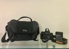 Nikon D3200 24.2 MP Digital SLR Camera w/ 18-55mm and 55-200mm Lens Kit - Black