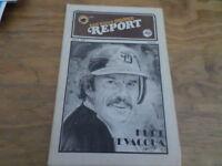 "San Diego Padres Report ""June 30, 1979""  Kurt Bevacqua - Free Domestic Shipping"