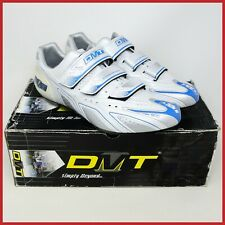 NOS DMT RUNNER ICE CYCLING SHOES SIZE 45 US 11 UK 10 CLEATS WHITE BLUE CARBON
