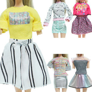 5x Girl Shining Skirt Shorts Cool Singer Outfits Clothes for 11.5 inch Doll Toy