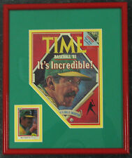Billy Martin Framed Time Magazine Cover with Signed Baseball Card