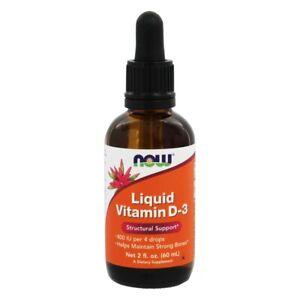 NOW Foods Liquid Vitamin D3 400 IU, 2 Ounces