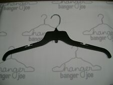 "HANGERS 19"" PLUS SIZED LARGER HANGERS BLACK SHIRT PLASTIC RETAIL SET 100"