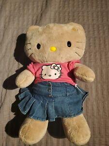 "Hello Kitty Build A Bear Brown 16"" Outfit tshirt jean skirt plush stuffed animal"