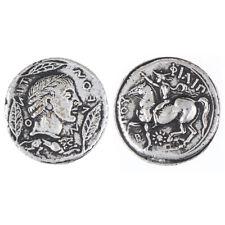 Monete Greca in Argento Antico Collezione Placcatura Gettone Piccola