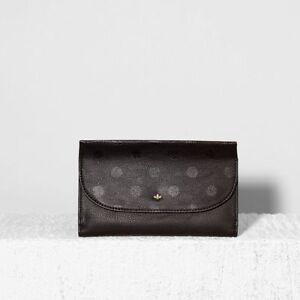 NICA Kayla Designer Women's Purse In Black Polka Dot,Card Holder,Travel Wallet.
