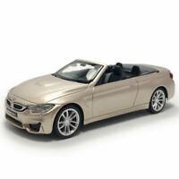 BMW M4 Convertible 1:43 Model Car Diecast Gift Toy Vehicle Kids Collection Gold