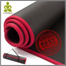 Extra Thick LARGE Non-slip YOGA MAT for Fitness Pilates Exercise Gym TASTELESS