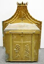 LARGE OLDER VINTAGE TABERNACLE WITH CROWN -  NO KEY - (CHURCH, CO.)