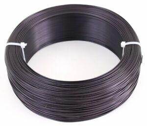Bonsai - Draht Aluminium 1,0 mm 1 KG, ca. 389 m, matt braunschwarz