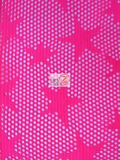 STAR FISHNET COSTUME SPANDEX FABRIC - Neon Pink - BY YARD CRAFTS TIGHTS LINGERIE