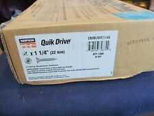 "QuikDrive #9 x 1-1/4"" Cement Board-to-Wood Screws w/ 2 Bits CB3BLGHL114S"