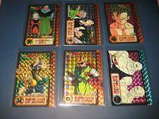 DRAGON BALL Z CARDDASS PART 17 FULL SET 6 PRISMS CARDS SET