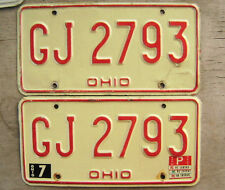 1980 OHIO LICENSE PLATE PAIR  #  GJ 2793