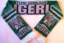 NIGERIA Football Scarves NEW made with soft luxury acrylic yarns