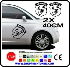 AUTOCOLLANT KIT LOGO LATERALE ADHESIF ECUSSON FIAT 500 ABARTH 40