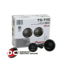 "PIONEER TS-T15 3/4"" CAR AUDIO SOFT DOME TWEETERS 120W MAX POWER"