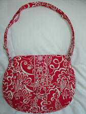 NWT VERA BRADLEY SADDLE UP in TWIRLY BIRDS PINK Shoulder - Cross Body Bag