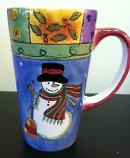 Snowman Christmas Latte Mug, Sweet Shoppe Christmas,  Sango by Sue Zipkin