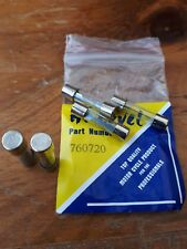 Motorcycle -  Scooter Glass Round Fuse. 20 Amps - 25mm Long PACK 5