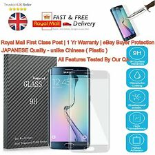 Laser Cut 9H Full LCD Tempered Screen Protector Cover For Samsung S7 Edge