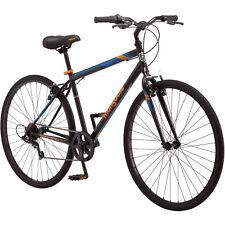 Mongoose Fitness Bike Men 700C Black Hybrid Commuter Sport City Bicycle New!