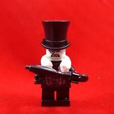 LEGO BATMAN THE PENGUIN Scowling Face Minifigure & UMBRELLA - LEGO COMPATIBLE