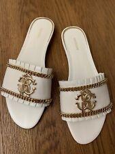 Roberto Cavalli White Sandals, Size 40