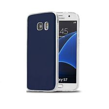 Shockproof Cube Protective Silicone GEL TPU Case Cover for Samsung Galaxy PHONES S6 Edge Blue