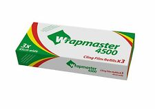 """WRAPMASTER 4500 (18"""") CLINGFILM 3 ROLLS OF 300MTR"""