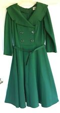 Fabulous Retro BETTIE PAGE Dress by Tatyana XL-XXL Green wBelt PrincessSeams exl