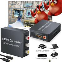 HDMI to 3 RCA Composite Video Audio Converter AV CVBS Adapter W/ Optical Cable