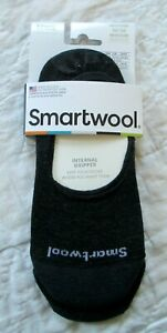 SMARTWOOL Women's No Show - 2 PAIRS - Socks CHARCOAL Size Medium M  NWT