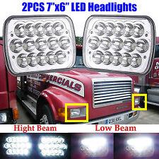 "7""x6""LED Headlights For International 3800 4700 4800 4900 8100 8200 Truck 95 -04"