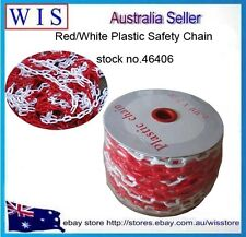 Red &White Plastic Safety Chain 6mm x 25 meter roll,Plastic Barrier Chain-46406