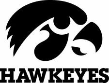Iowa Hawkeys Cornhole Decal Set - 8 Decals Free Circles 2 Free Window Decals