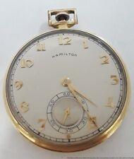 1948 Running Art Deco Hamilton Grade 917 Mens Pocket Watch To Restore 17j 10s