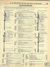 1931 PAPER AD Hand Power Farm House Water Pump Parts Repair Price List
