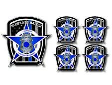 5 pack Thin Blue Line Flag Police Fallen Officer Decal Sticker Blue Lives Matter