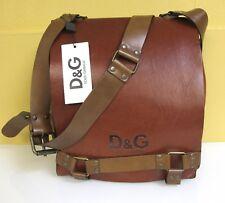 48ed2e1ef2d3 NEW D G Dolce   Gabbana Leather Messenger Bag Men s Unisex Brown Handbag