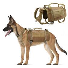 Tactical Dog Molle Vest Harness K9 Adjustable Outdoor Training Vest & 3 Handles