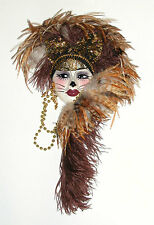 Unique Creations Kitty Cat Lady Face Mask Wall Hanging Decor Cat